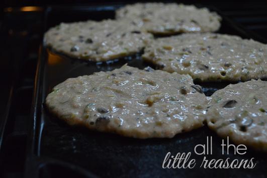 Zucchini Chocolate Chip Pancakes www.allthelittlereasons.com